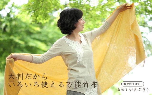 竹布(TAKEFU)竹の二重大判ガーゼストール 清布(すがしぬの)は大判だからいろいろ使える万能竹布です。