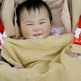 竹布(TAKEFU)竹の二重大判ガーゼストール 清布(すがしぬの)を赤ちゃんのお出かけに