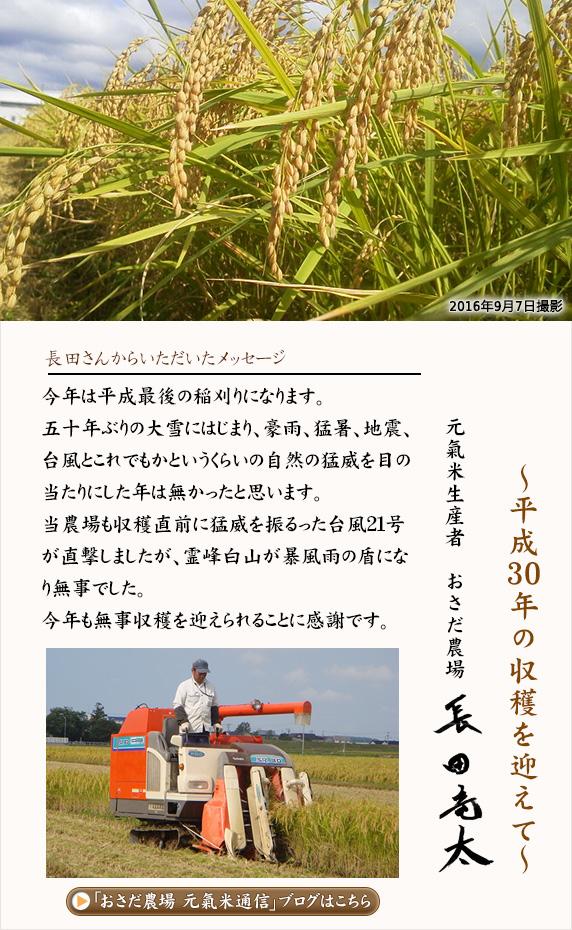 平成29年 収穫を迎えて