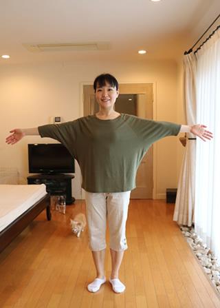 竹のドルマン七分袖Tシャツ ゆったり袖